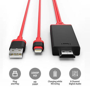 Lightning to HDMI Cable - Connect iPhone to TV/Projector