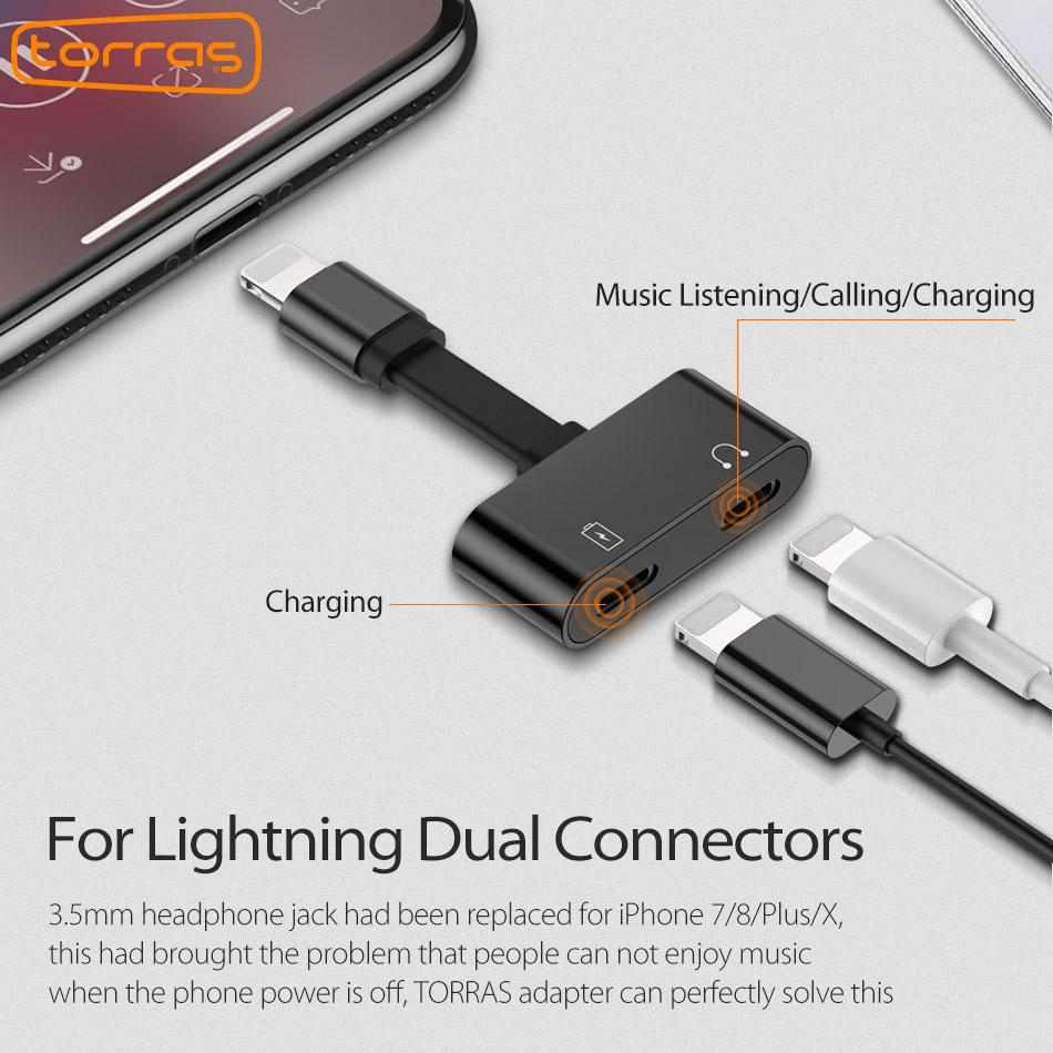 Lightning Headphone Audio Jack for iPhone (2 in 1)