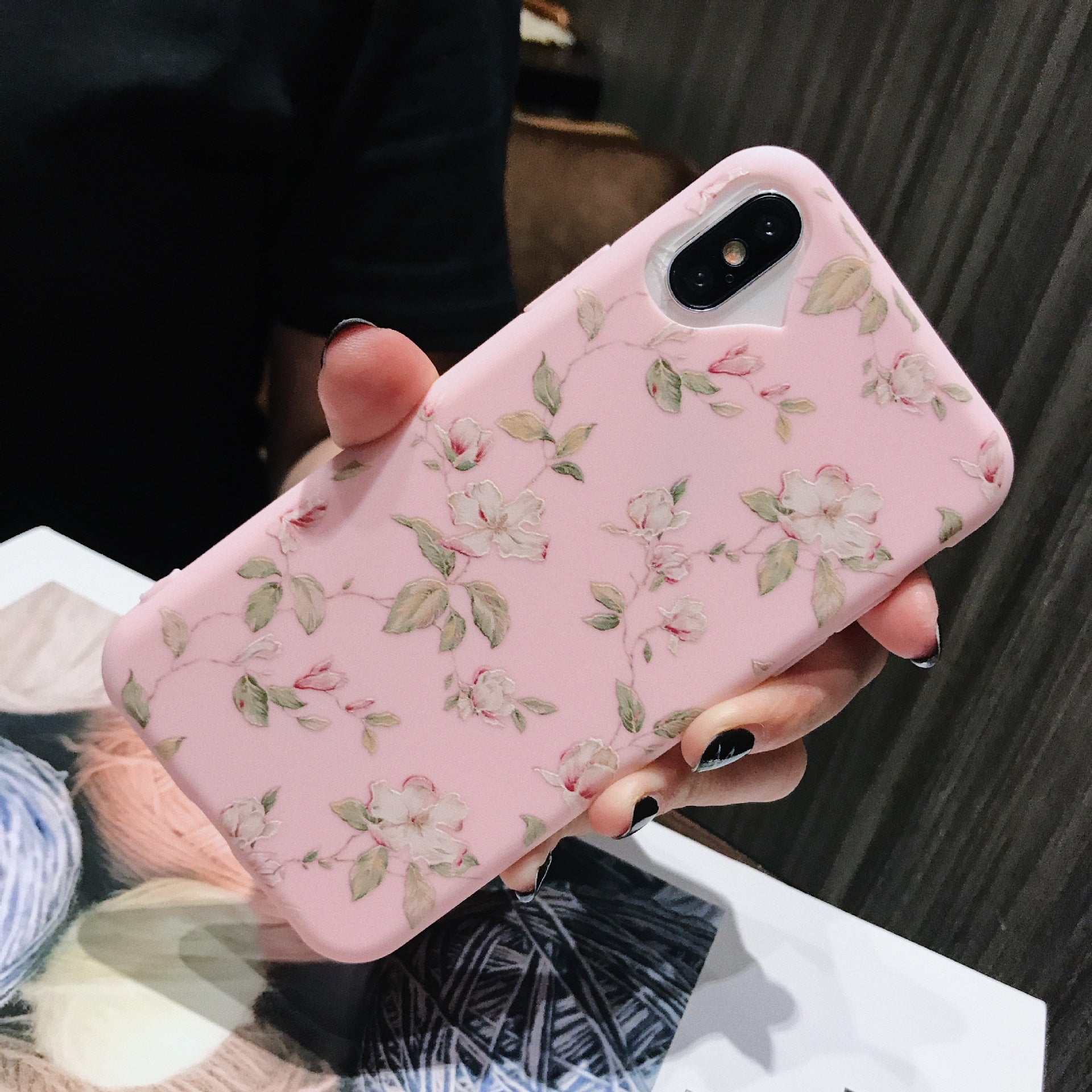 Lovebay Phone Case For Apple iPhone 5 6s 7 Plus 8 Plus Fashion Cartoon Beautiful Flower Soft TPU For iPhone 6 5s SE Phone Case