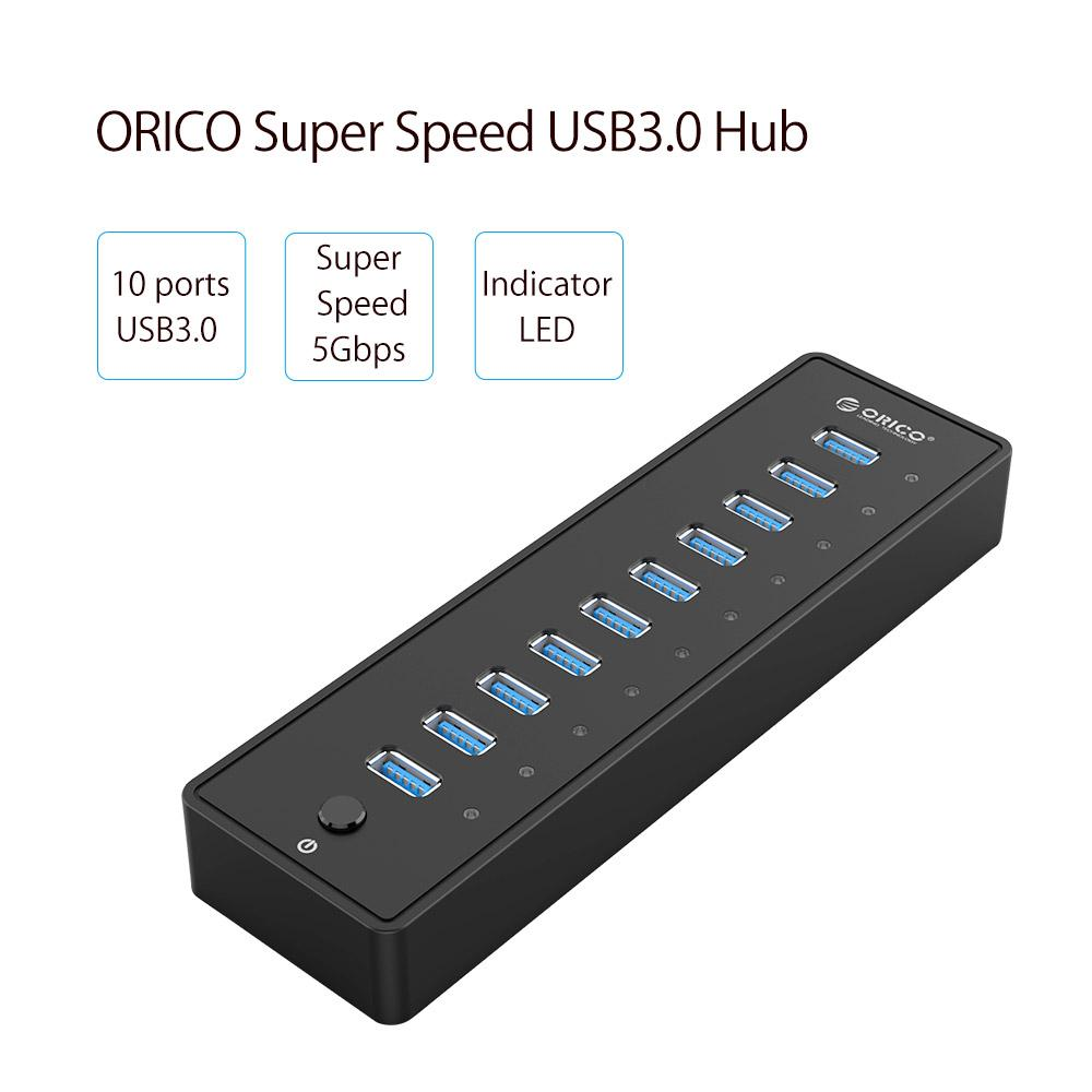 USB Splitter with Power Adapter for US/UK/EU/UA