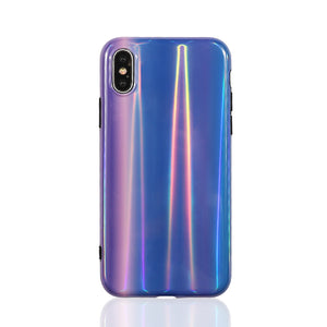 Laser Blue & Purple Color Case For iPhone