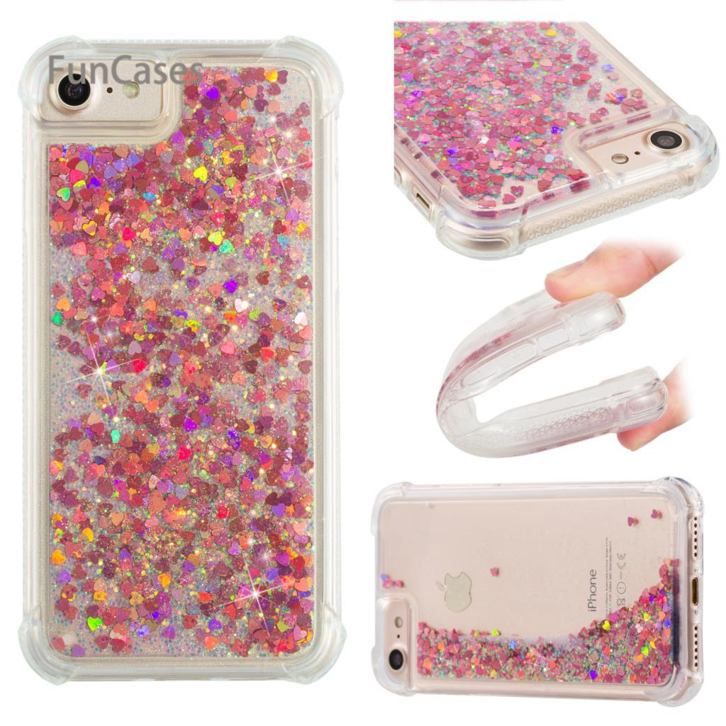 Quicksand Case sFor Hoesje iPhone 7 Soft TPU Phone Case Cellular Squishy Back Cover sFor iPhone 8 Mobiltelefon Coque Venta