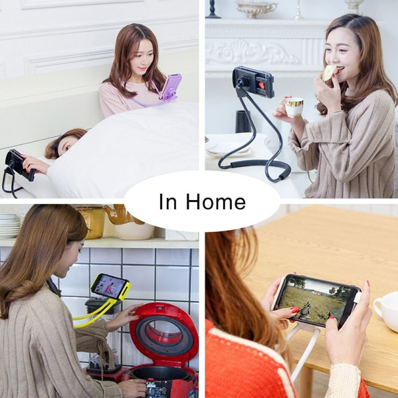 Flexible Neck Phone Stand for iPhone 8/X X/ Samsung s8
