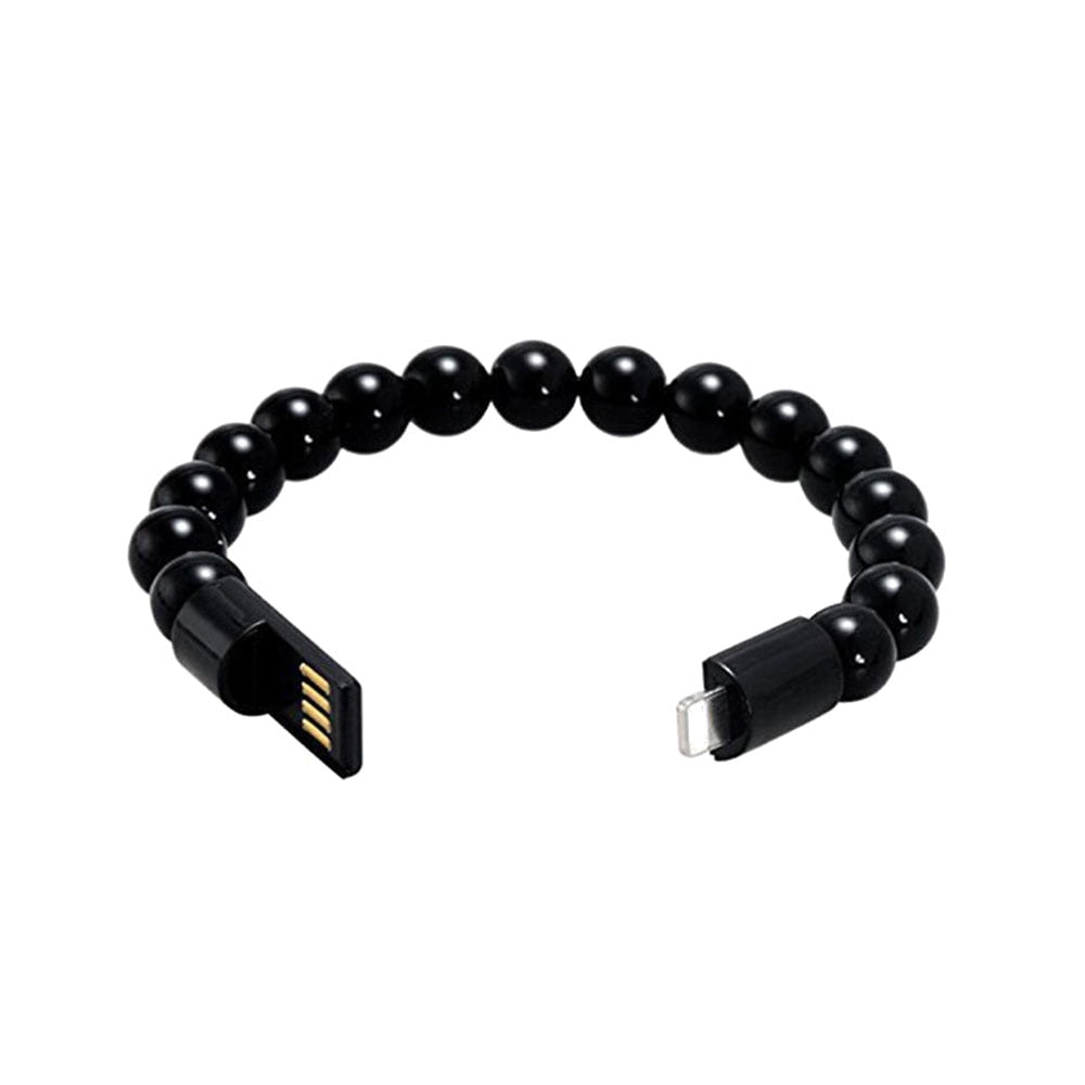 Wearable USB Charging Bracelet Beads Charging Cable Portable USB Phone Charger