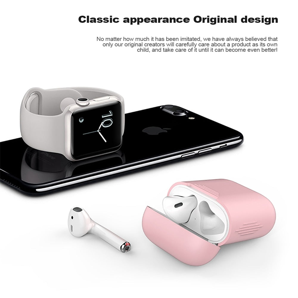 Funda de silicona suave para Apple Airpods funda a prueba de golpes para Apple AirPods auriculares fundas Ultra Thin Air Pods Protector funda