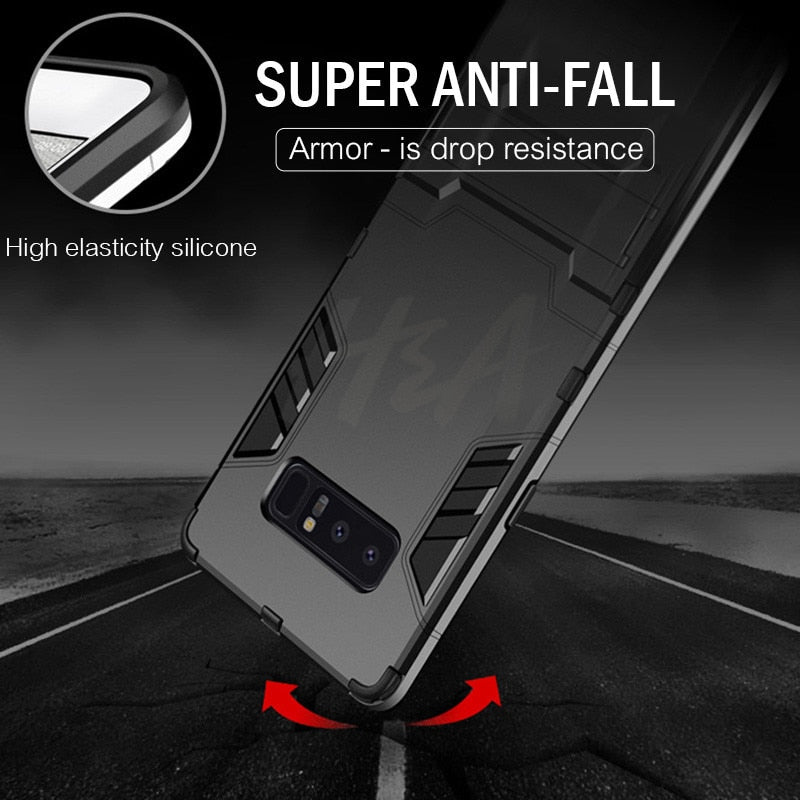 Full Cover Shockproof Armor Phone Case For Samsung Galaxy S9 S8 Plus S7 Edge Matte Protective Cover For Samsung Note 8 Case