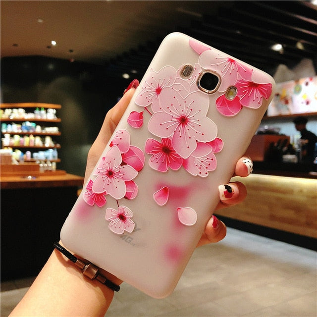 Flower Phone Case For Samsung Galaxy S9 S8 Plus S7 Edge A3 A5 A7 J3 J5 J7 2017 Series Note 9 8 Clear Soft TPU Cover Cases