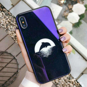 Moon Stars Astronaut Case For iPhone Hard Back Cover