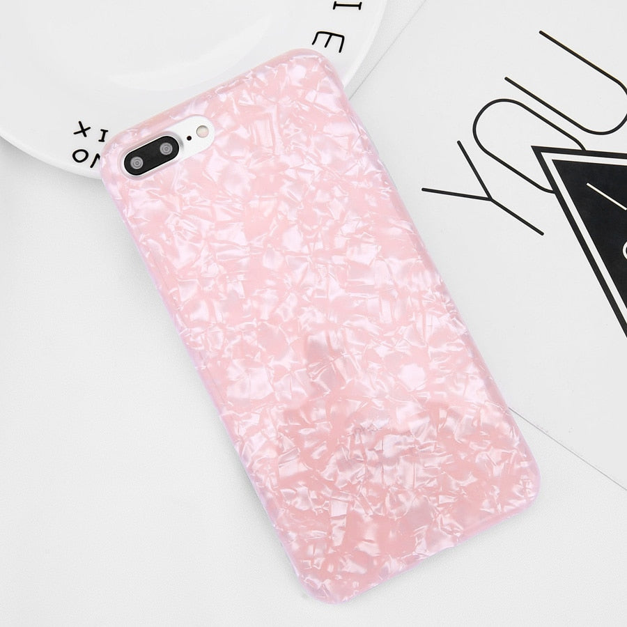 Glitter Phone Case For iPhone 7 8 Plus Dream Shell Pattern Cases For iPhone XR XS Max 7 6 6S Plus Soft TPU Silicone Cover