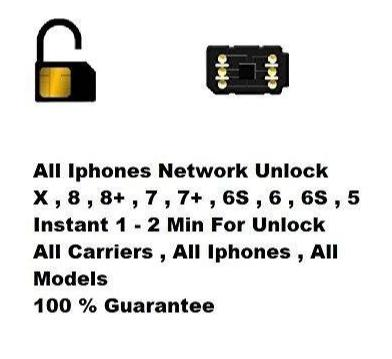 2019/2020 iPhone Instant Unlock SIM for iPhone 5/5s/6/6s/6+/7/7+/8/8+/X