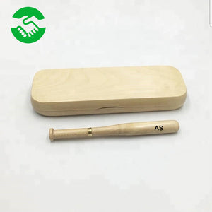 Baseball wooden pen set and case | Eco friendly | Personalised gift