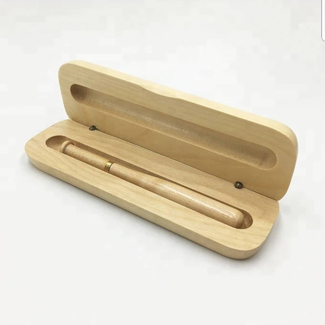 Eco Friendly baseball wooden pen set and case
