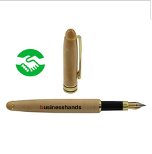 Load image into Gallery viewer, Eco friendly bamboo fountain pen and case set