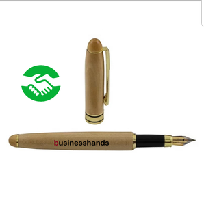 Eco friendly bamboo fountain pen and case set