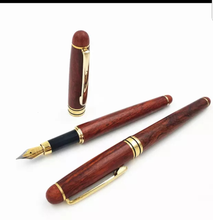 Load image into Gallery viewer, Rosewood fountain pen- handcrafted pen and box set