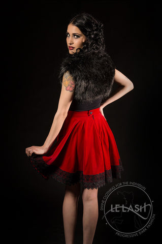 Laudanum Red Velvet Circle Skirt
