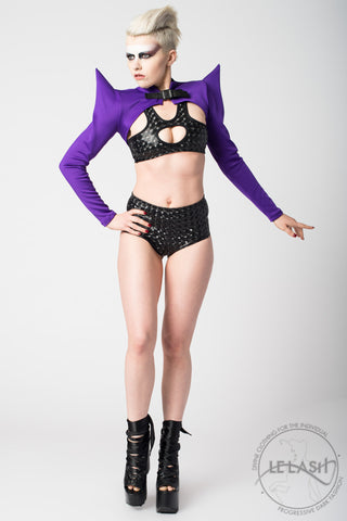 Vanta Black Bat Bolero - Purple