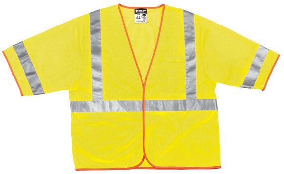 Pack of 6 - MCR Safety Vest, Class 3 Mesh, 2