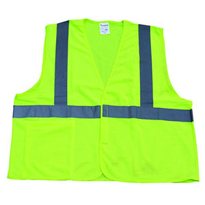 Pack of 12 - TruForce™ Class 2 Solid Mesh Safety Vests