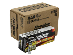 12pk or 24pk Energizer Industrial Alkaline Batteries AAA, AA, C, D, or 9V