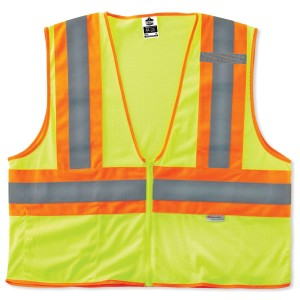 Pack of 6 Ergodyne GloWear® 8230Z Type R Class 2 Two-Tone Safety Vest - Pick your size and color