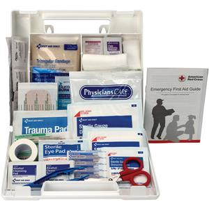 Pack of 12 First Aid Only Brand 10 Person First Aid Kit, Plastic Case With Dividers. 222-U