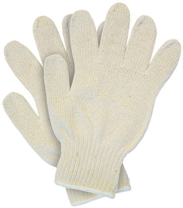 12 Packs of 12 pairs - MCR Safety® Heavy Weight String Knit Gloves, 100% Cotton, Natural, 1 DOZEN