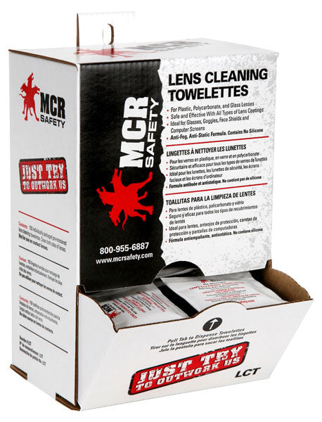 12 Boxes - MCR Safety® Lens Cleaning Wipes 100/Box