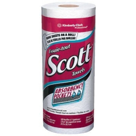 20 Rolls - Scott Kitchen Roll Paper Towels, 128 sheets per roll