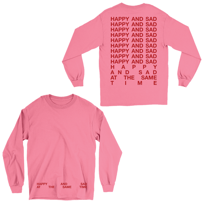 HAPPY & SAD LONG-SLEEVE TEE