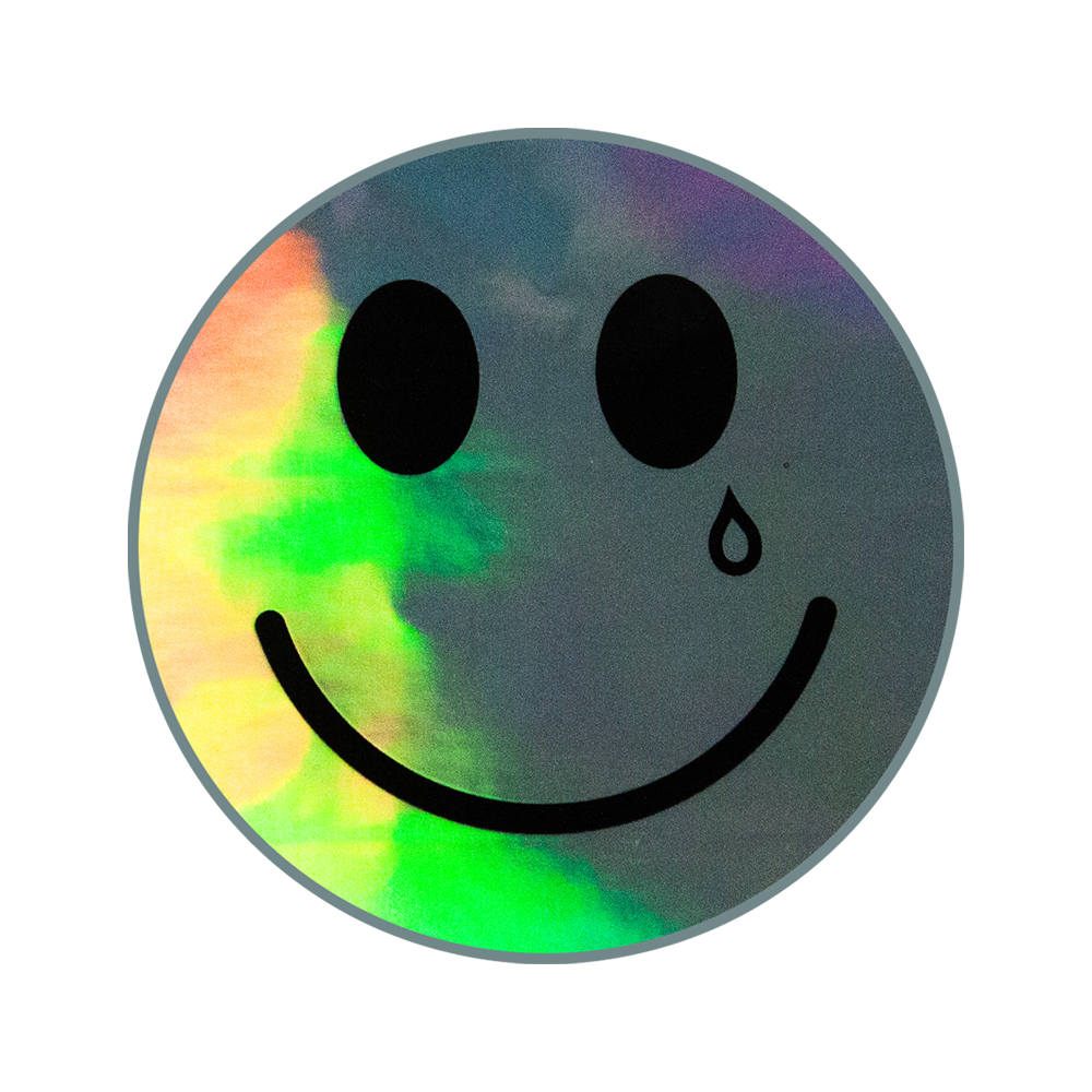 HAPPY & SAD HOLOGRAPHIC STICKER