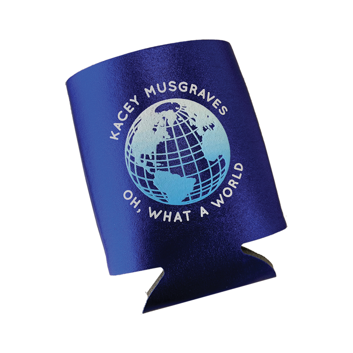 OH, WHAT A WORLD METALLIC KOOZIE