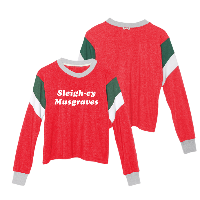 SLEIGH-CY MUSGRAVES CROPPED SWEATSHIRT