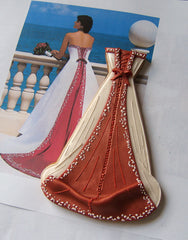 Red Back Wedding Dress Cookie