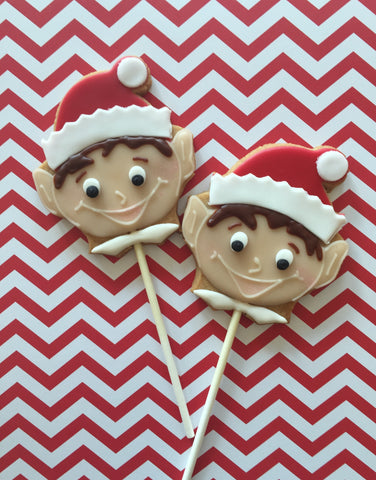 Elf Cookie Pops