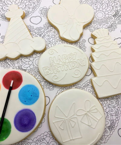 Paint Your Own Birthday Cookie Decorating Kit
