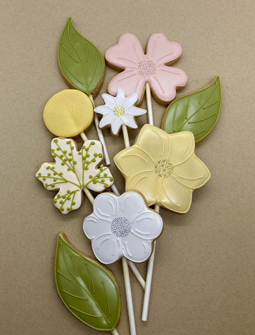 Spring Flower Cookie Bouquet