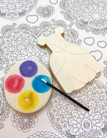 Paint Your Own Princess Dress Cookie