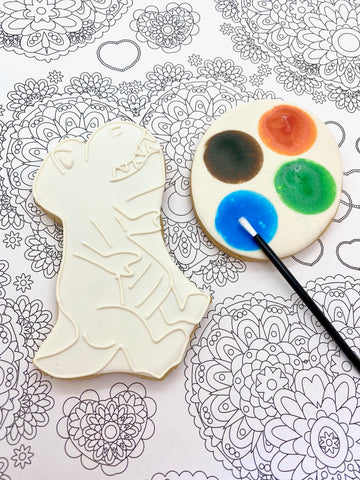 Paint Your Own Dinosaur Cookie