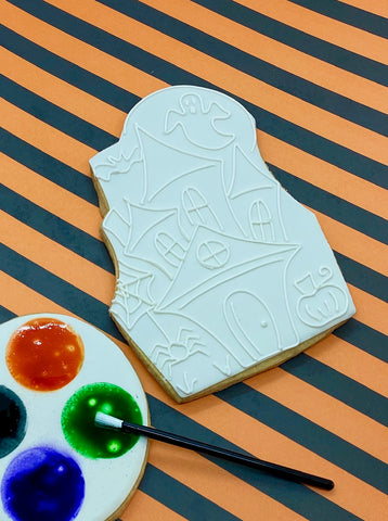 Paint Your Own Haunted House Cookie