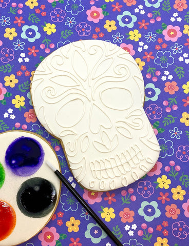 Paint Your Own Day of the Dead Skull Cookie