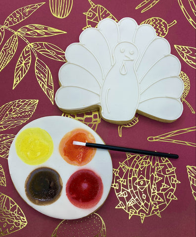 Paint Your Own Turkey Cookie