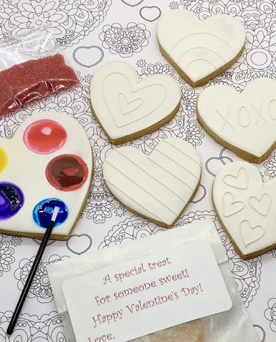 Paint Your Own Valentine Cookie Decorating Kit