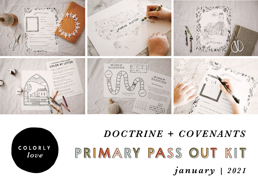 January - April Primary Pass Out Kit