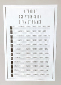 Family Prayer + Scripture Study Chart