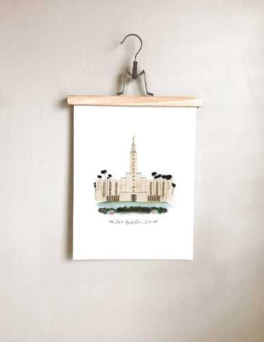 Los Angeles, California Temple Print