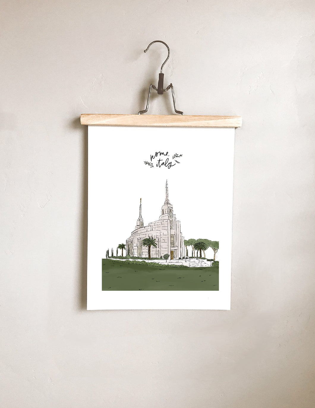 Rome, Italy Temple Print