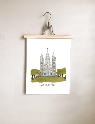 Salt Lake City Temple Print