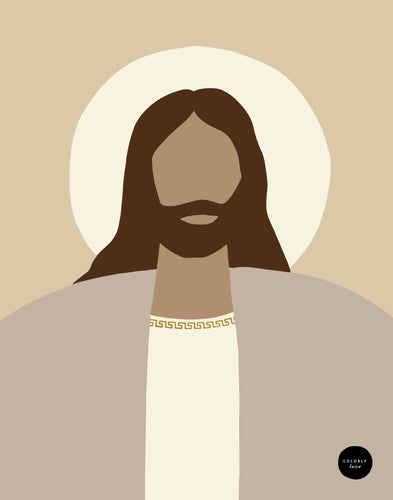 Neutral Christ Portrait Digital Download