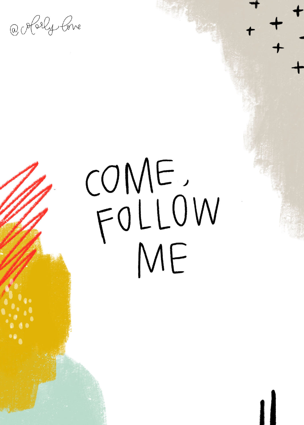 Come Follow Me Abstract Print